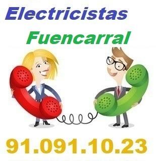 Telefono de la empresa electricistas Fuencarral