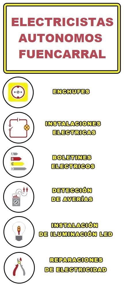 servicios de electricidad en Fuencarral